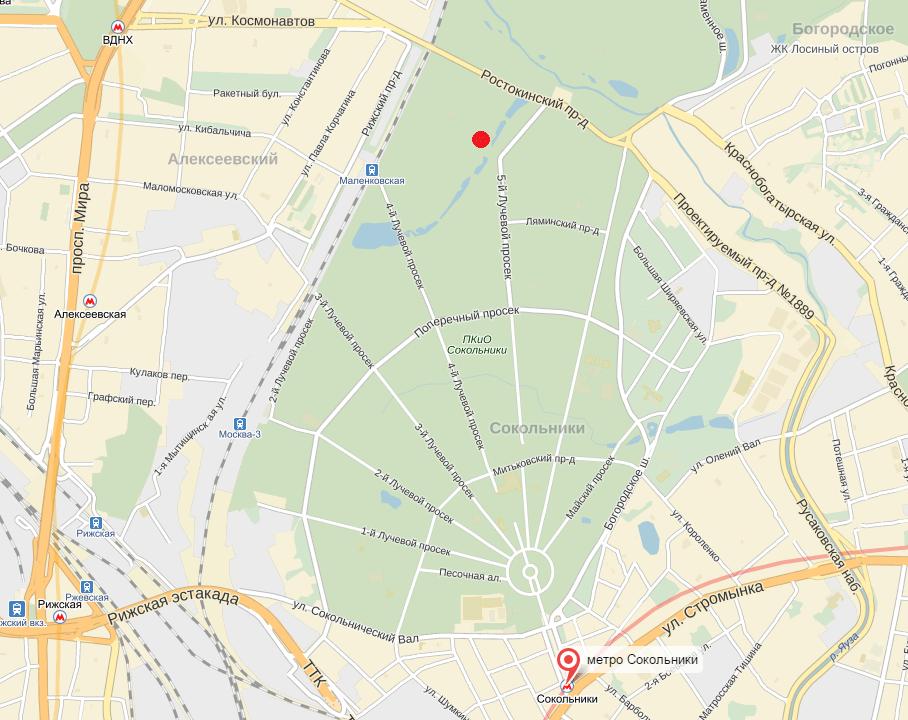 карта Сокльники _точка слёт