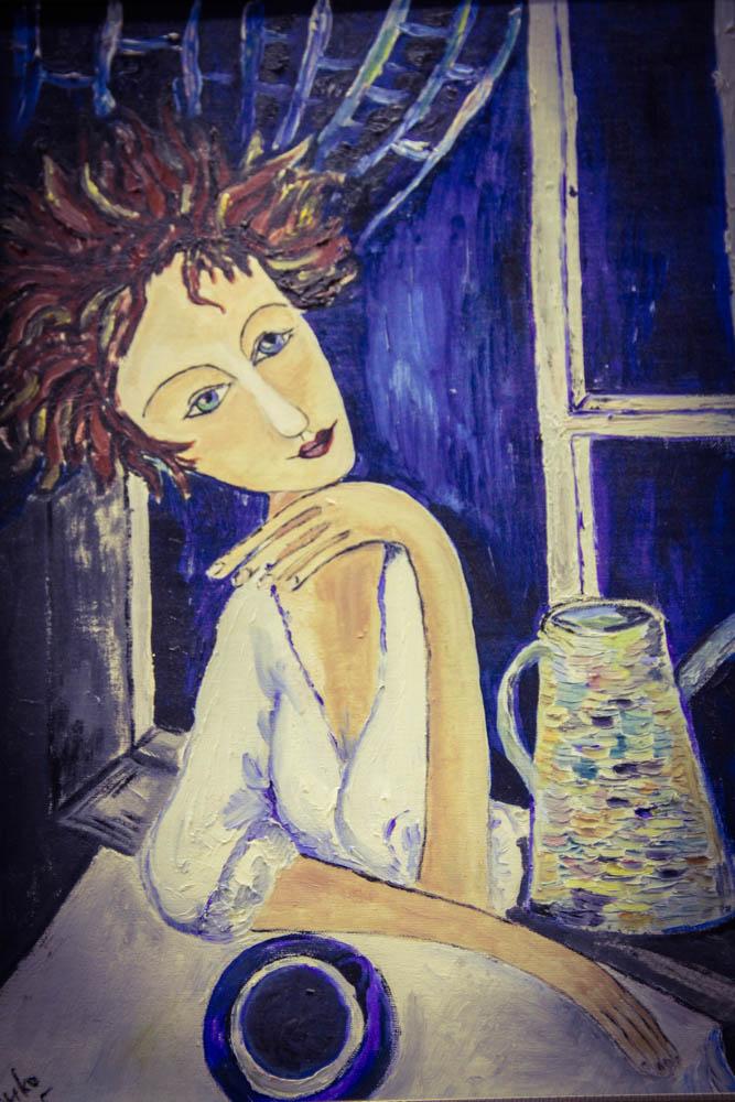 Мама с кофе. Лали Москалёва